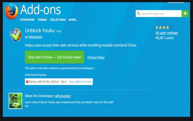 How to Unblock Youku on Firefox Browser